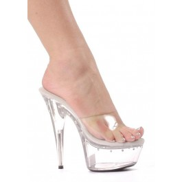 6 Inch Pointed Stiletto Heel Women'S Size Shoe With Rhinestones On Platform