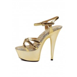 6 Inch Heel Platform Women'S Size Shoe With Ankle Strap And Buckle At Toe