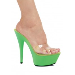 6 Inch Pointed Stiletto Sandal Women'S Size Shoe With Clear Strap