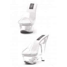 6 Inch Clear Wedge Mule Women'S Size Shoe