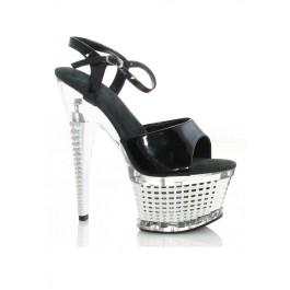 Onyx 6 Ankle Strap With Textured Platform