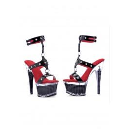 """Rocker 6"""" Textured Platform And Heel"""