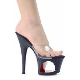 6.5 Inch Pointed Stiletto Mule Women'S Size Shoe With Cut-Out Design In Platform
