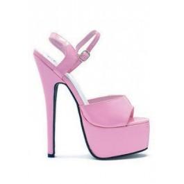 Women's 6 1/2 Inch Stiletto Heel Platform Sandal With Ankle Strap