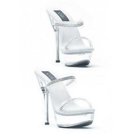 6 Inch Rhinestone Heel Sandal Women'S Size Shoe With Rhinestone Straps
