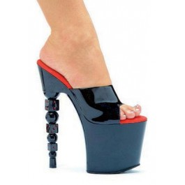 7.5 Inch Dice Heel Mule Women'S Size Shoe
