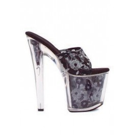 8 Inch Heel Mule Women'S Size Shoe With Decorative Lace