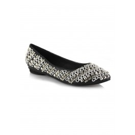 Flats With Metallic Adornment