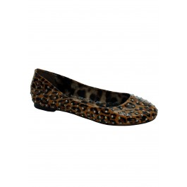 Leopard Flats With Silver Studs