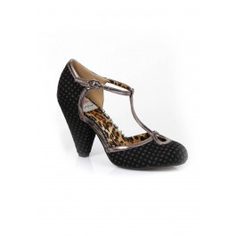 3-1/2 Inch Cone Heel Closed-Toe
