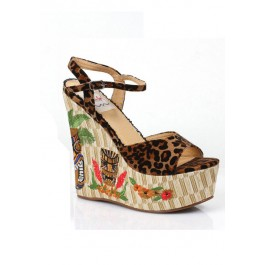 4.5 Inch Wedge With Tiki Pattern