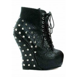 Curve Wedge Spiked Ankle Bootie