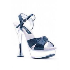 6 Inch Silver Cone Heel Glitter Sandal Women'S Size Shoe