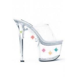 7 Inch Heel Multi-Color Light Up Mule Women'S Size Shoe