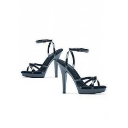 Women's 5 Inch Heel Strappy Sandal With Ankle Strap