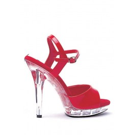 Women's 5 Inch Heel Sandal With Ankle Strap