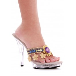 5 Inch Heel Mule With Jewels