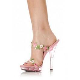 5 Inch Heel Sandal Women'S Size Shoe With Flower Straps