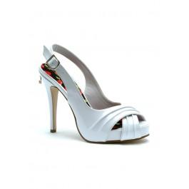 Women's 4 1/2 Inch Heel Peep Toe Slingback Sandal