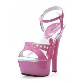 6 Inch Heel Patent Platform Women'S Size Shoe With Side Bow