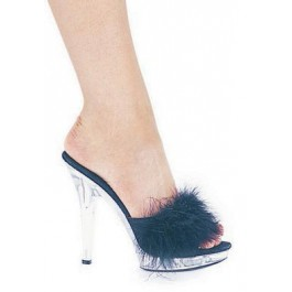 5 Inch Heel Marabou Slipper Women'S Size Shoe