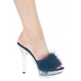 5 Inch Heel Marabou Slipper Women'S Size Shoe