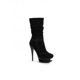 6 Inch Stiletto Heel, 1 1/2 Inch Dual Platform Ankle Boot