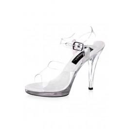 4 1/2 Inch Stiletto Heel Ankle Strap Platform Sandal