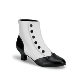 2 Inch Heel Button Spat Ankle Boot