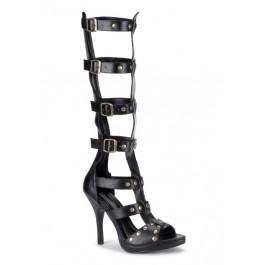 Women's 2 Inch Heel Multistrap Calf-High Sandal