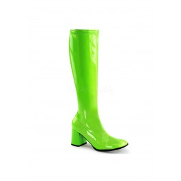 3 Inch Heel, Knee High Boot, Full Inner Side Zipper.