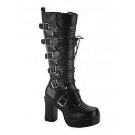 3 3/4 Inch Lace-Up Front Knee Boot