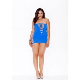 Seamless Shredded Mini Tube Dress