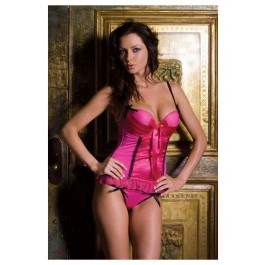 Satin And Matte Pleated Cups Bustier