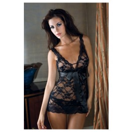 Lace Chemise With 2 Interchangeable Ribbons