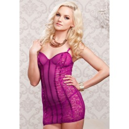 Sheer Lace And Mesh Soft Cup Chemise