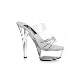6 Inch Spike Heel Platform Sandal