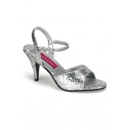 3 Inch Heel Glitter Ankle Strap Sandal