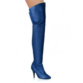4 Inch Pull-On Thigh Boot With Elasticated Gusset