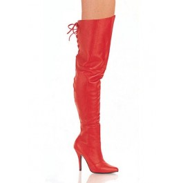 5 Inch Thigh Boot With Lacing Detail At The Rear