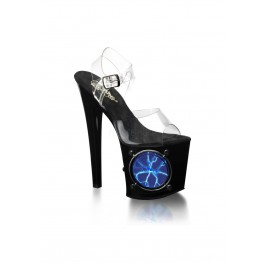 7 1/2 Inch Ankle Strap Platform Sandal With Strobe Light