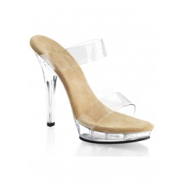 5 Inch Heel, 3/4 Inch Platform Two Band Slide