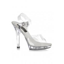 5 Inch Stiletto Heel Ankle Strap Platform Sandal