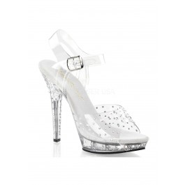 5 Inch Heel, 3/4 Inch Platform Ankle Strap Sandal