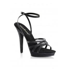 5 Inch Heel, 3/4 Inch Platform Strappy Swrap Around Ankle Strap Sandal