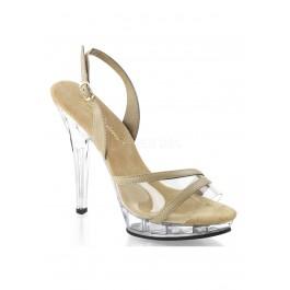 5 Inch Heel, 3/4 Inch Platform Sling Back Sandal