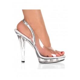 5 Inch Stiletto Heel Platform Slingback