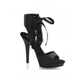 5 Inch Heel, 3/4 Inch Platform Front Lace-Up Ankle High Sandal