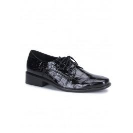 Men'S Alligator Patent Lace-Up Shoe