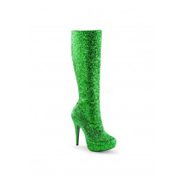 5 Inch Heel, 1 Inch Platform Knee High Boot, Side Zip